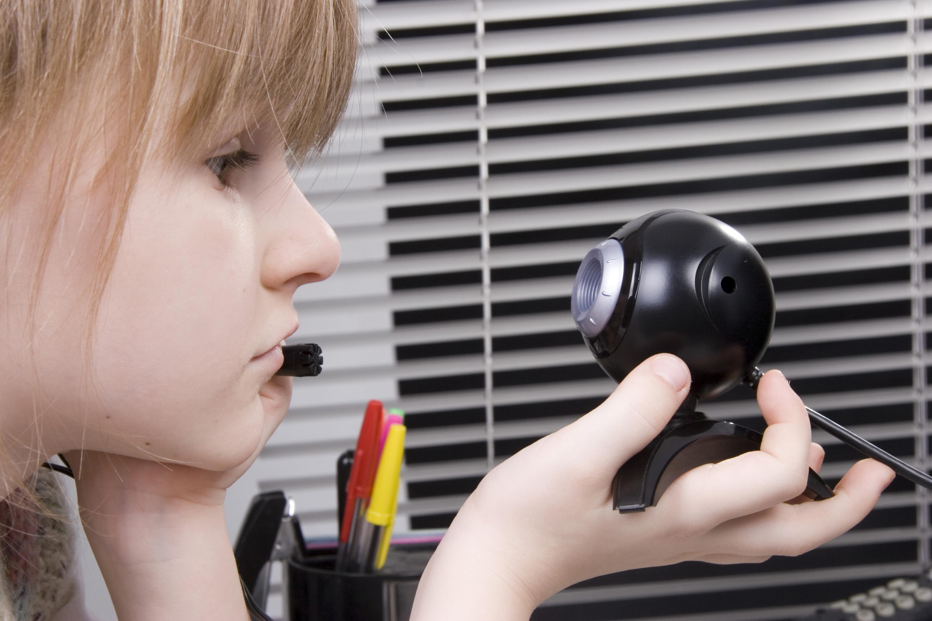 girl and web camera